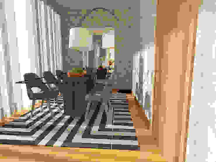 Elegant Dining Room Minimalist dining room by Movelvivo Interiores Minimalist