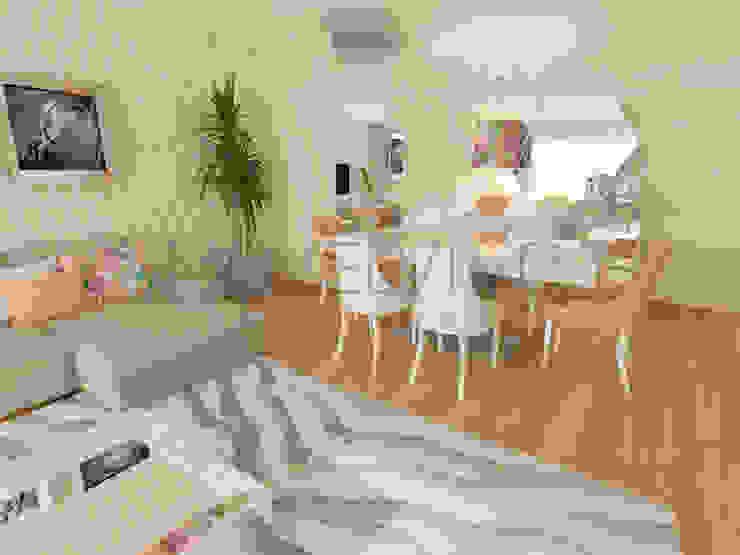 Orange Dining Room Minimalist dining room by Movelvivo Interiores Minimalist