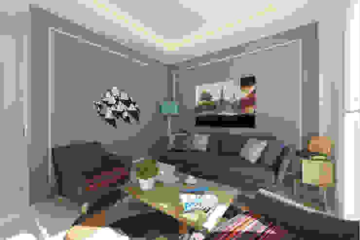 Living room تنفيذ BEA Mimarlık İnşaat Limited Şirketi