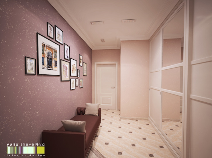 Eclectic corridor, hallway & stairs by Мастерская интерьера Юлии Шевелевой Eclectic