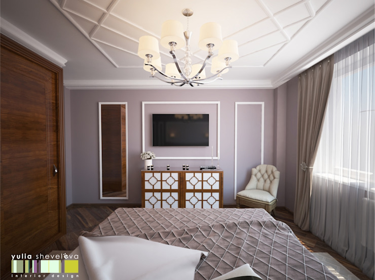 Eclectic style bedroom by Мастерская интерьера Юлии Шевелевой Eclectic