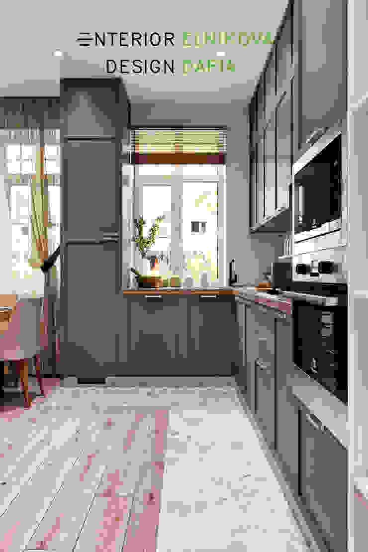 Студия архитектуры и дизайна Дарьи Ельниковой ห้องครัว