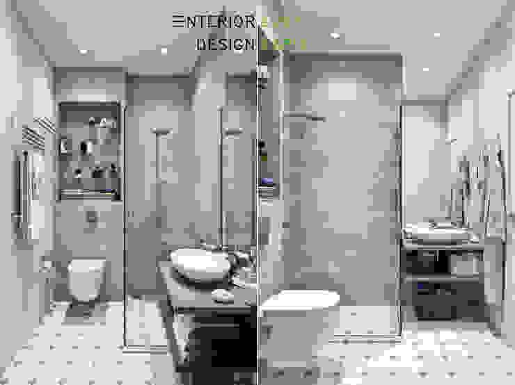 Студия архитектуры и дизайна Дарьи Ельниковой ห้องน้ำ