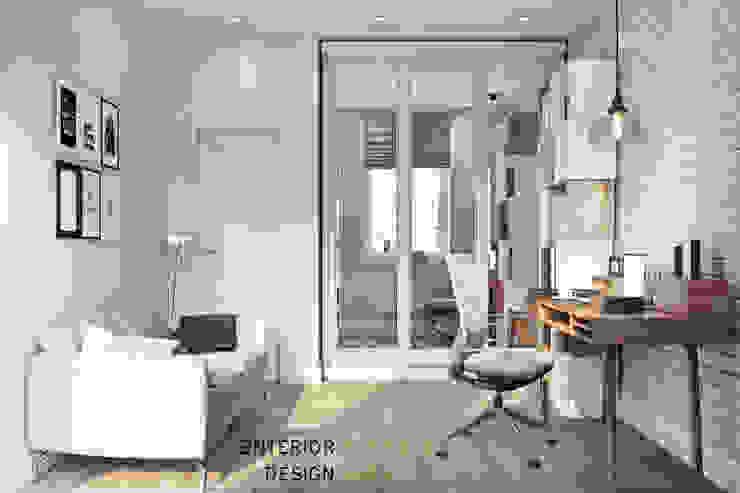 Студия архитектуры и дизайна Дарьи Ельниковой ห้องทำงาน/อ่านหนังสือ