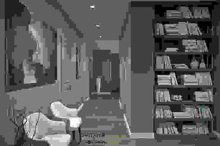 Квартира 115 кв.м. в современном стиле в ЖК Триколор Студия архитектуры и дизайна Дарьи Ельниковой Коридор, прихожая и лестница в модерн стиле