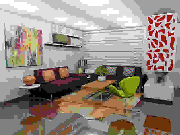 Ciudad Salitre Occidental Salas modernas de Omar Interior Designer Empresa de Diseño Interior, remodelacion, Cocinas integrales, Decoración Moderno Madera Acabado en madera