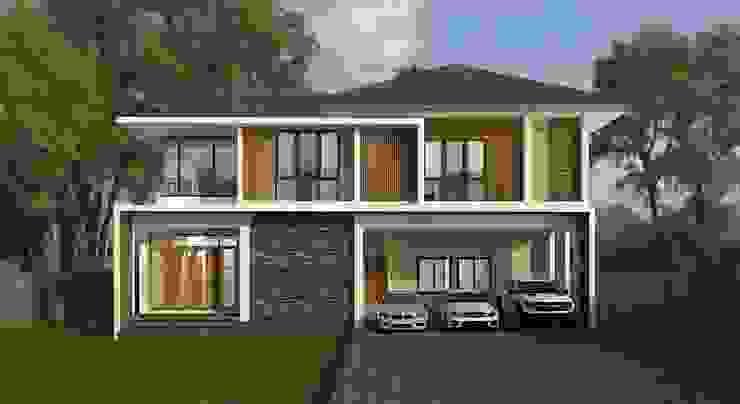 บ้านพักอาศัยสองชั้น โดย M2 3D Design โมเดิร์น คอนกรีตเสริมแรง