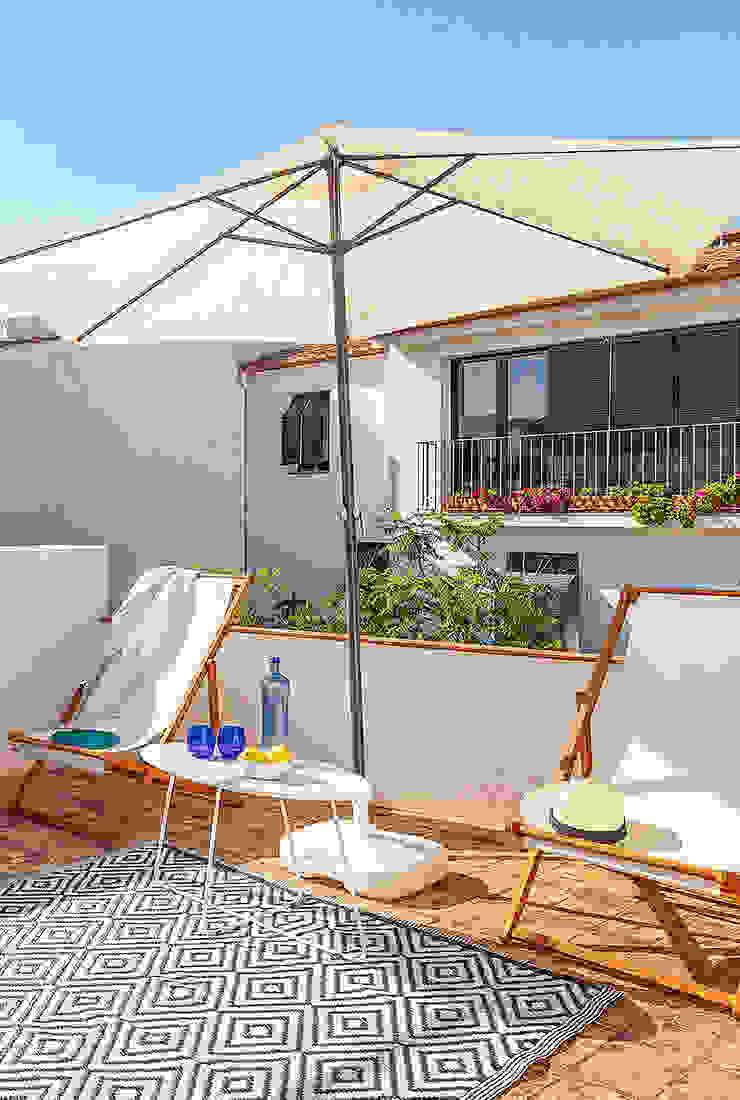 Solarium Balkon, Beranda & Teras Gaya Mediteran Oleh Markham Stagers Mediteran