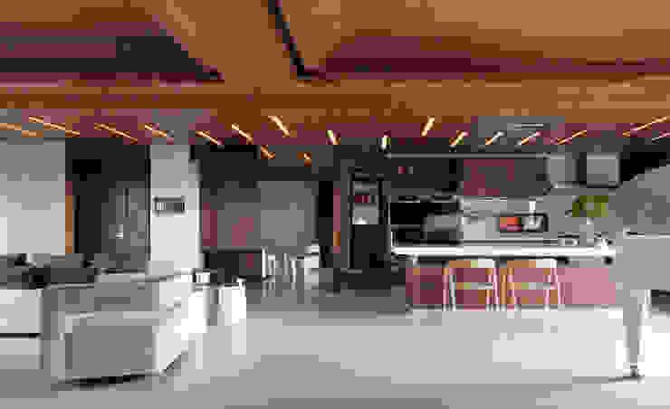 H之所在 现代客厅設計點子、靈感 & 圖片 根據 禾築國際設計Herzu Interior Design 現代風