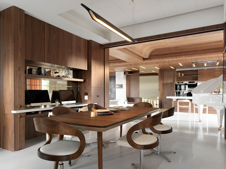 H之所在 Modern Dining Room by 禾築國際設計Herzu Interior Design Modern
