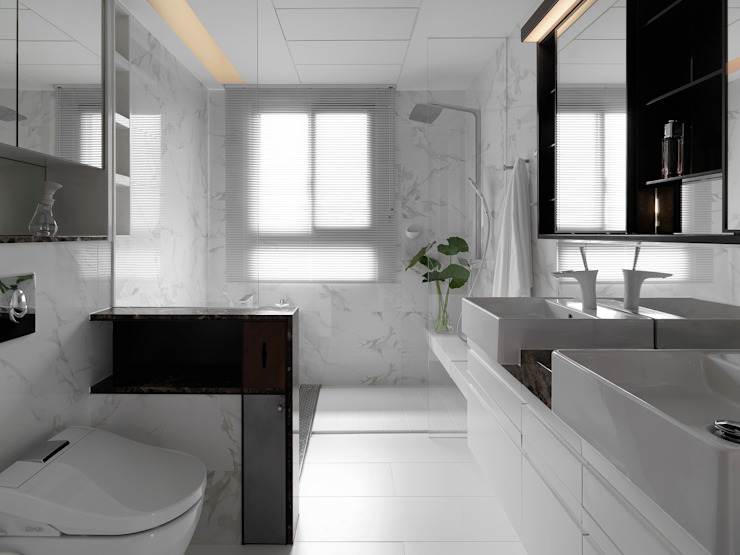 H之所在 Modern Bathroom by 禾築國際設計Herzu Interior Design Modern