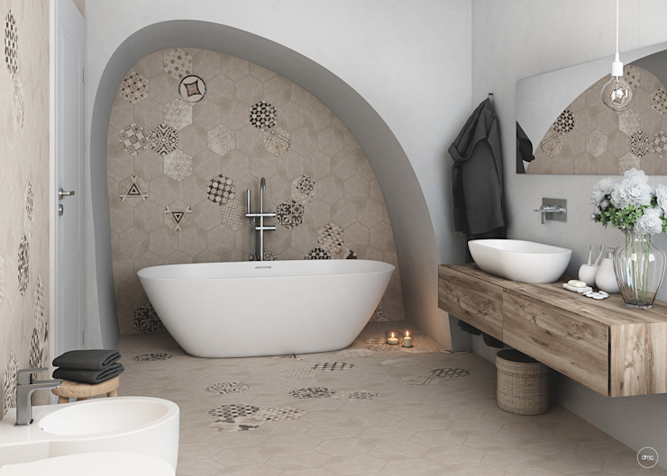 Mediterranean style bathrooms by DMC Real Render Mediterranean
