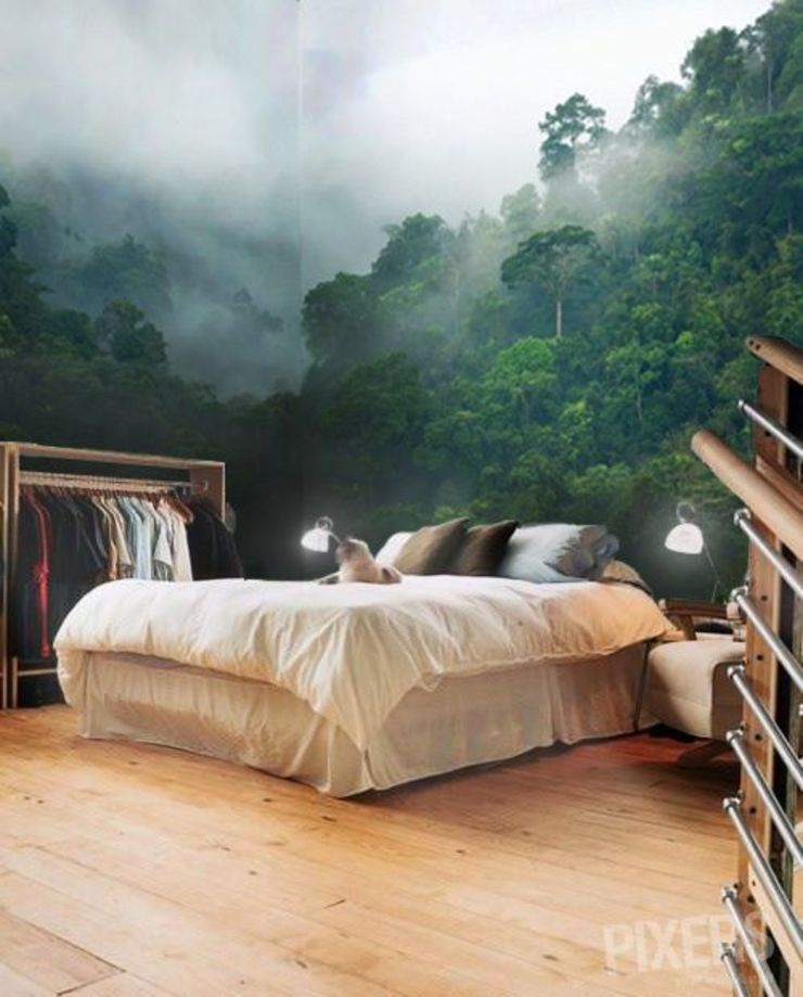 NIGHT IN THE FOG Pixers Colonial style bedroom
