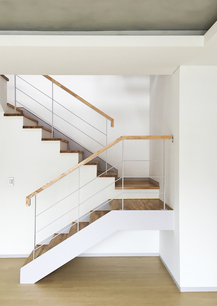 운중동 주택 모던스타일 복도, 현관 & 계단 by 원더 아키텍츠 / Wonder Architects 모던