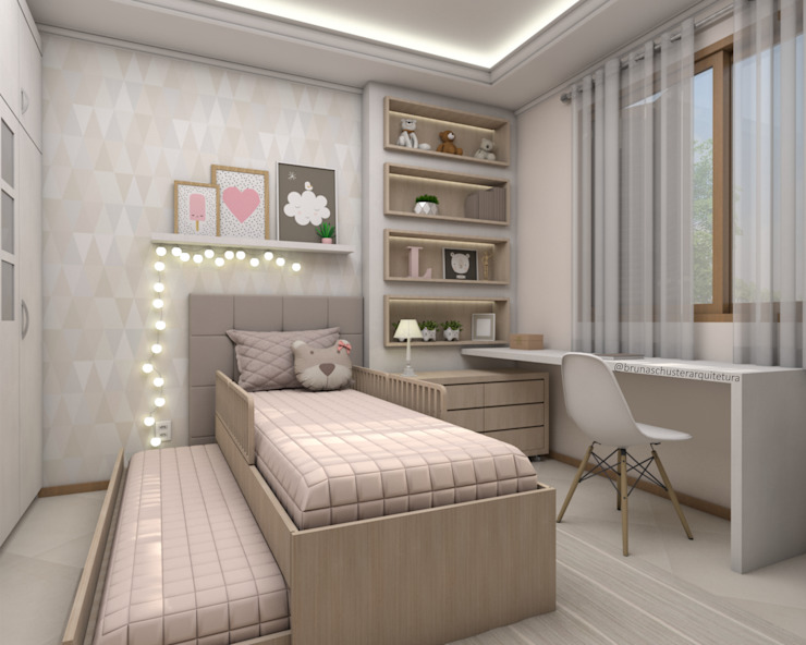 Phòng trẻ em by Bruna Schuster Arquitetura & Interiores
