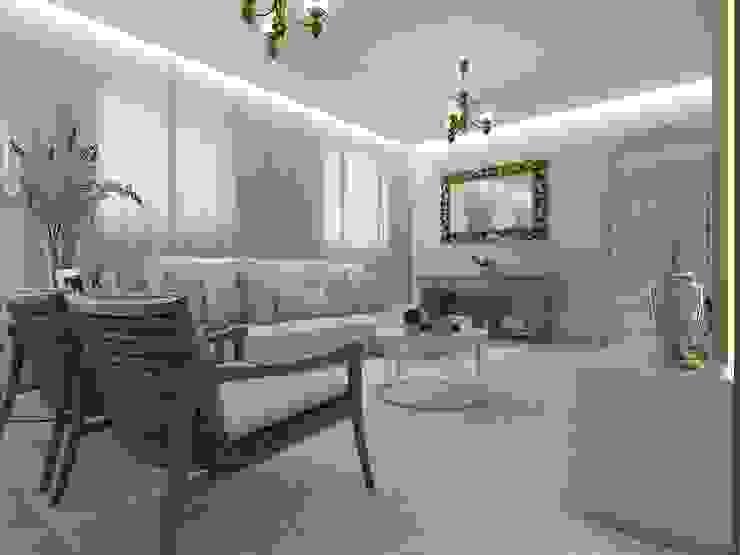 Sala de estar, jantar e cozinha Salas de estar minimalistas por Marcela Matos Arquitetura e Interiores Minimalista