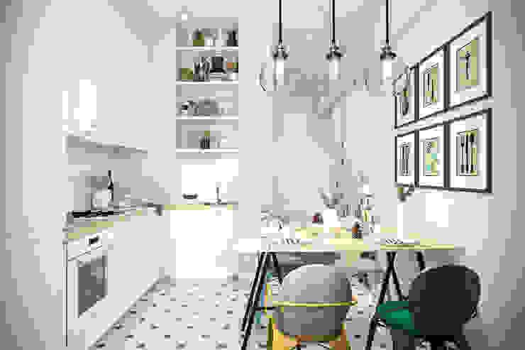 Cocinas escandinavas de Студия архитектуры и дизайна Дарьи Ельниковой Escandinavo