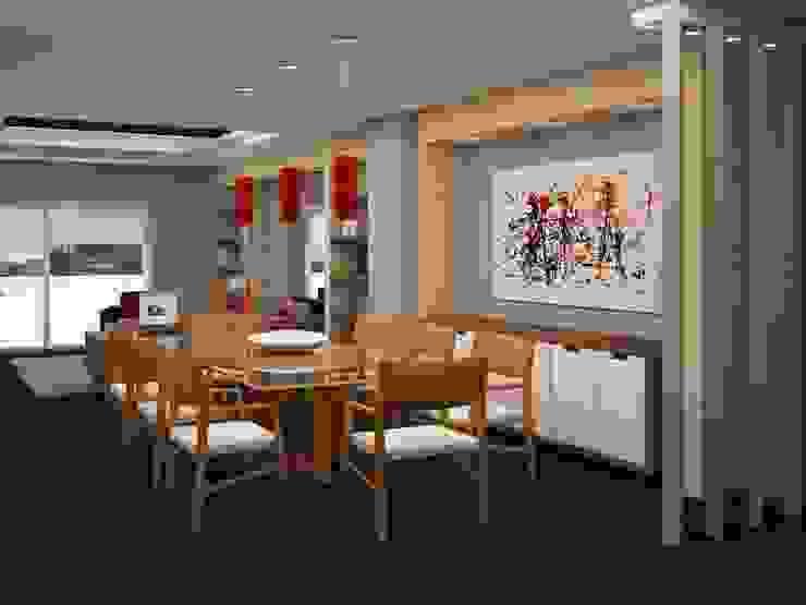 โดย JMS Interiores Muebles y Construcción โมเดิร์น ไม้ Wood effect