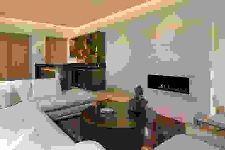 SALA Salas modernas de Rousseau Arquitectos Moderno