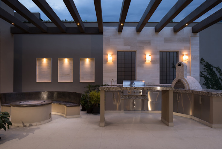 TERRAZA Balcones y terrazas de estilo moderno de Rousseau Arquitectos Moderno