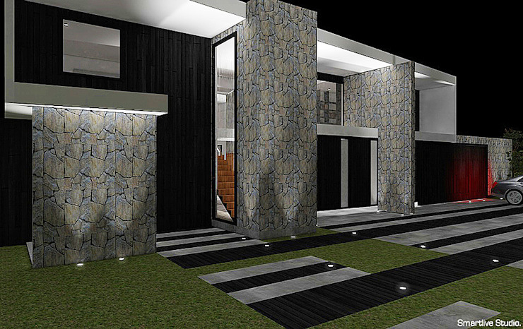 Fachada Casas estilo moderno: ideas, arquitectura e imágenes de homify Moderno