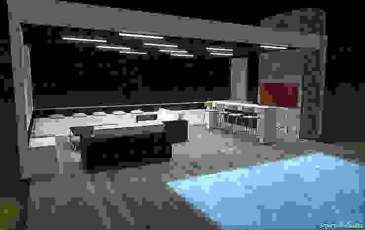 Quincho y piscina Balcones y terrazas modernos de homify Moderno