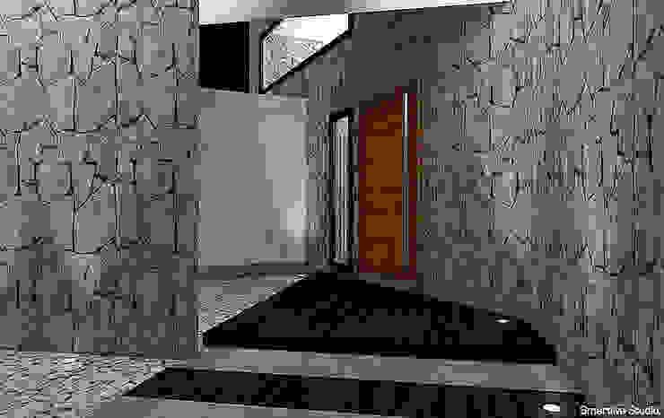 Hall de acceso Pasillos, vestíbulos y escaleras modernos de homify Moderno