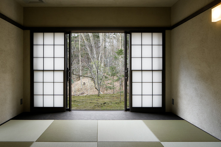 Tatami room 久保田章敬建築研究所 Modern Media Room