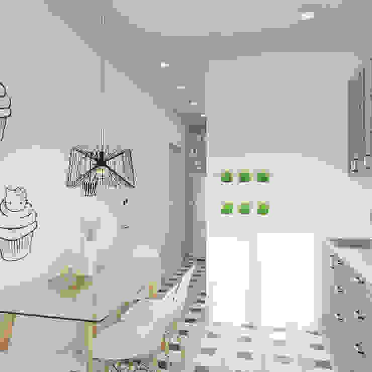 Пудра Кухня в скандинавском стиле от ДОМ СОЛНЦА Скандинавский