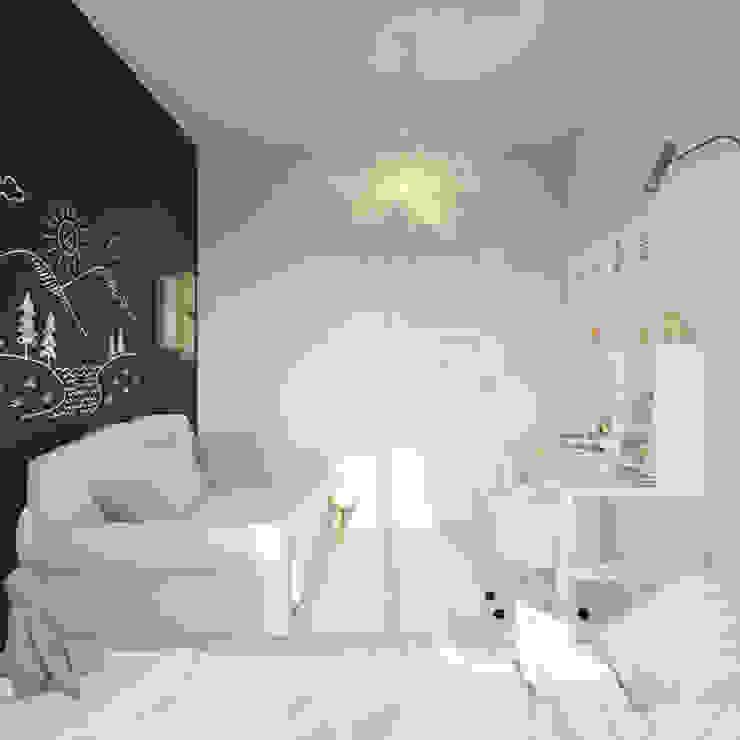 Пудра Детская комнатa в скандинавском стиле от ДОМ СОЛНЦА Скандинавский
