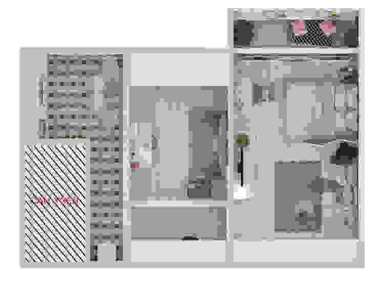 Пудра Коридор, прихожая и лестница в скандинавском стиле от ДОМ СОЛНЦА Скандинавский