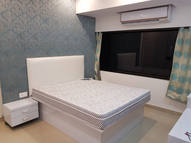 andheri west 2 bhk Modern style bedroom by The Red Brick Wall Modern