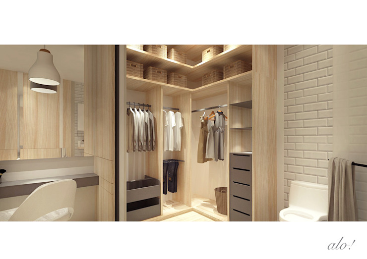 Master Room - Walk in Wardrobe by studioalo Scandinavian