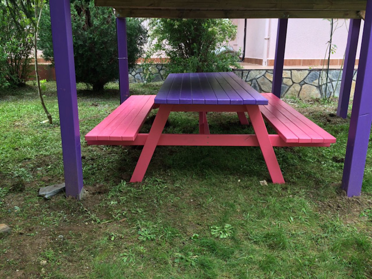 Piknik Masası Bersa İç ve Dış Ticaret Ltd. Şti. Kırsal/Country Ahşap Ahşap rengi