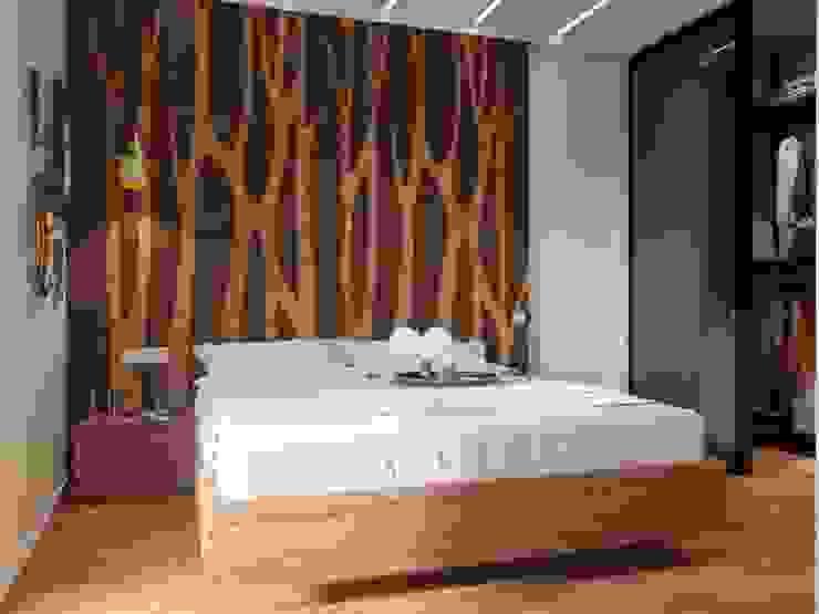Camera da letto moderna di Дизайн-студия 'Вердиз' Moderno