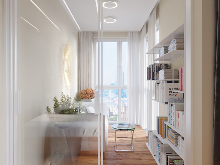 Balcone, Veranda & Terrazza in stile moderno di Дизайн-студия 'Вердиз' Moderno