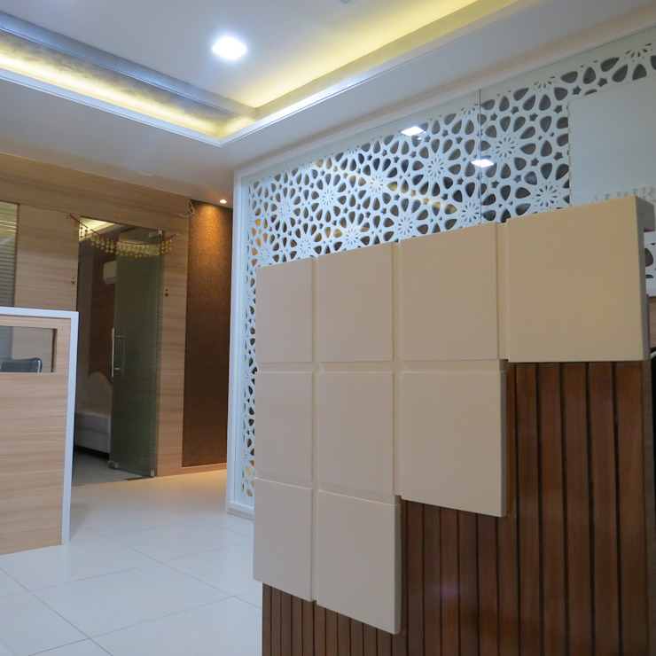 Office Interior For M. Birla & Company Modern offices & stores by umesh prajapati designs Modern Wood Wood effect