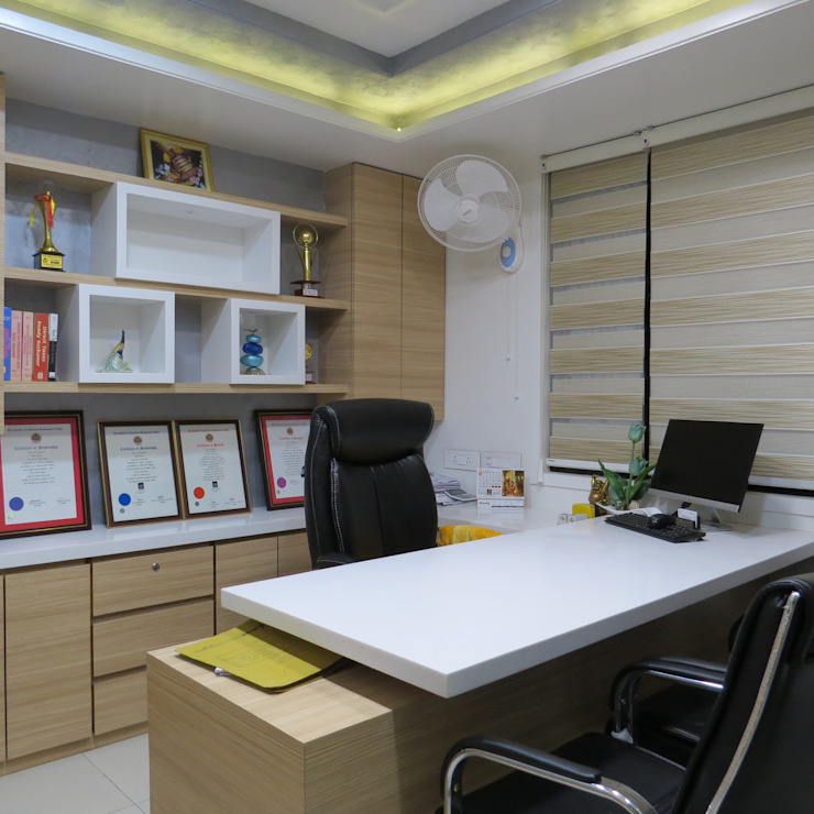 Office Interior For M. Birla & Company Modern offices & stores by umesh prajapati designs Modern