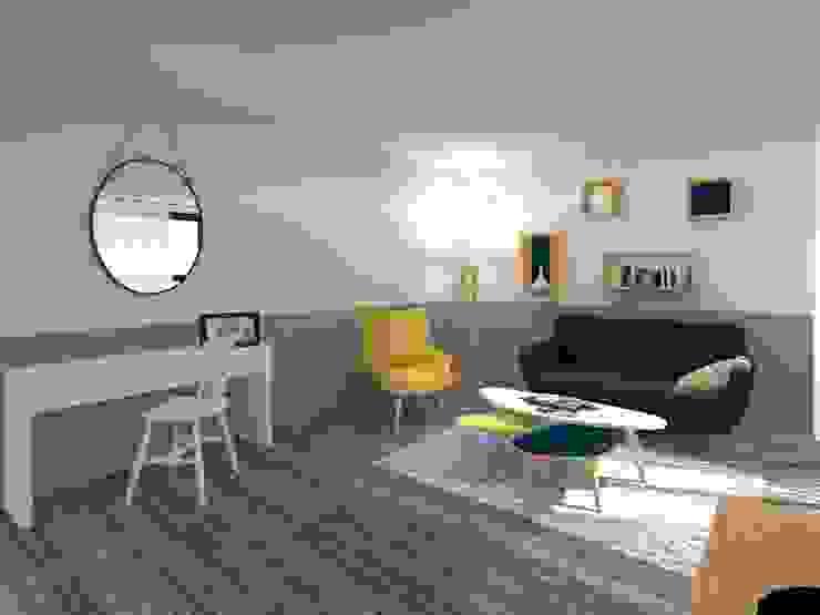 Homestaging 3d Salon scandinave par LSAI Scandinave