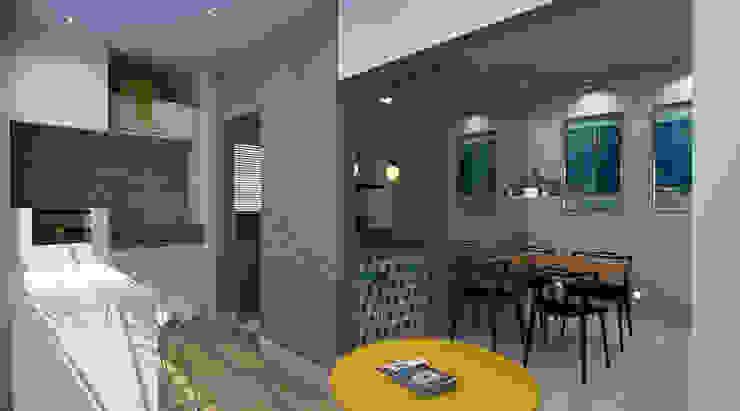 Moderner Balkon, Veranda & Terrasse von Espaco AU Modern
