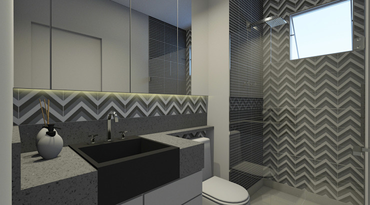 Modern Bathroom by Espaco AU Modern