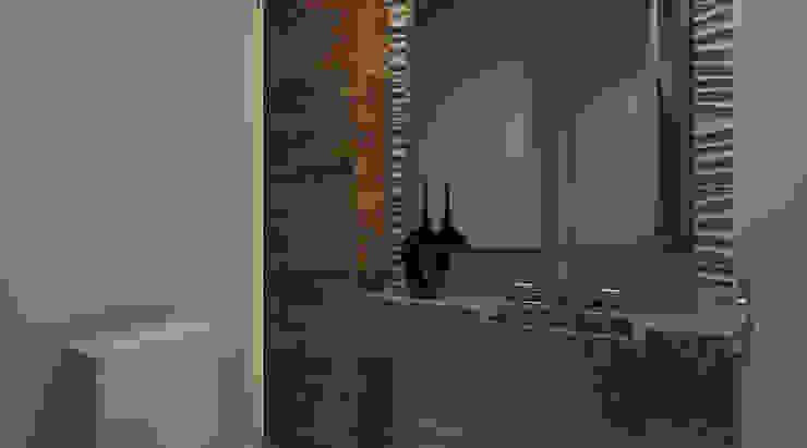Projeto de Interiors - Condomínio Wide Cambuí - Campinas: Banheiros  por Espaco AU,Moderno