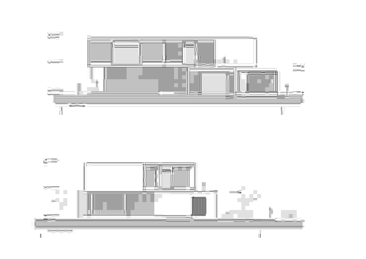 Elevaciones Casas de estilo minimalista de del castillo schiffino | dCS* Minimalista