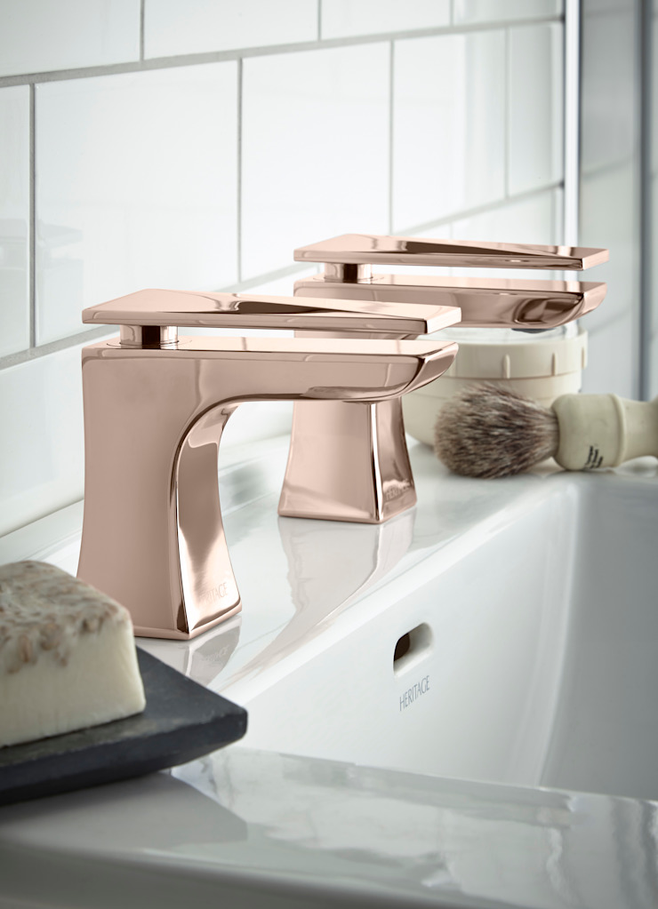 Hemsby basin taps in rose gold Classic style bathroom by Heritage Bathrooms Classic