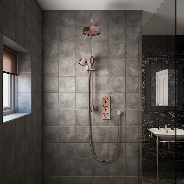 Hemsby shower in rose gold Classic style bathroom by Heritage Bathrooms Classic