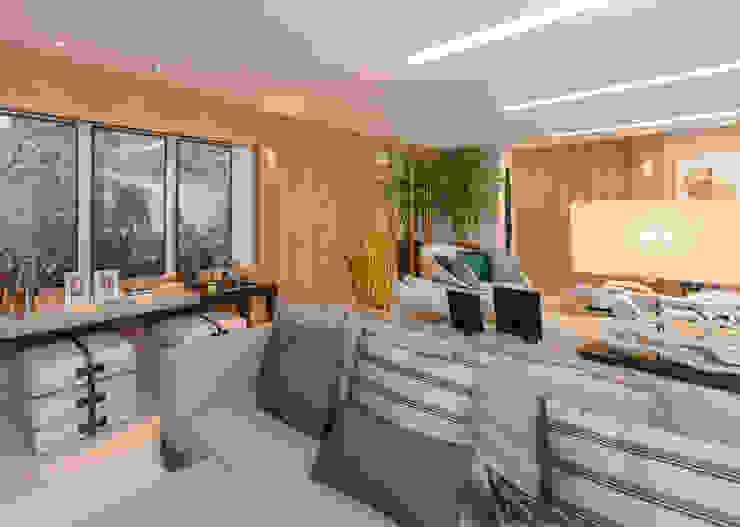 Izilda Moraes Arquitetura ห้องนั่งเล่นไฟห้องนั่งเล่น