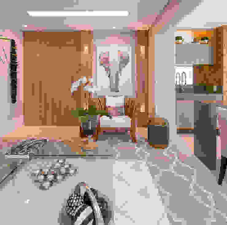 Izilda Moraes Arquitetura ห้องนั่งเล่นของตกแต่งและอุปกรณ์จิปาถะ