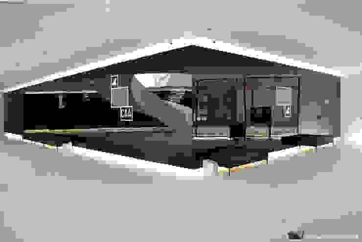 Sovinorte Modernes Messe Design Glas Schwarz