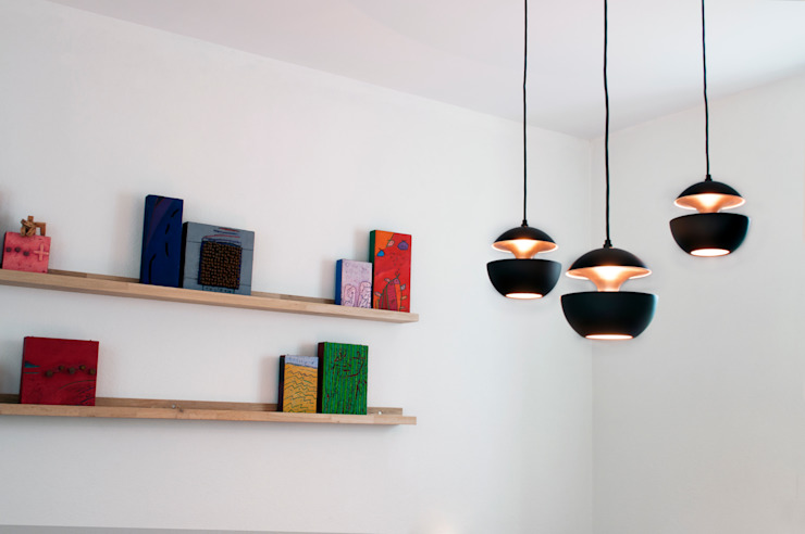 IJzersterk interieurontwerp Phòng khách Black