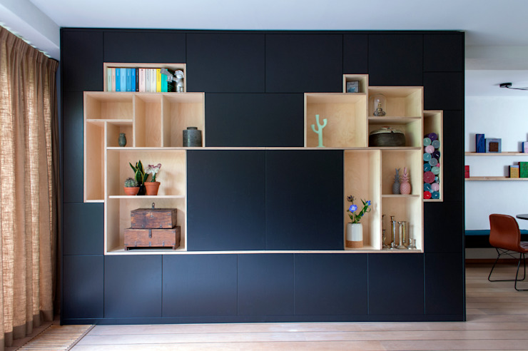 hiện đại  theo IJzersterk interieurontwerp, Hiện đại Gỗ Wood effect